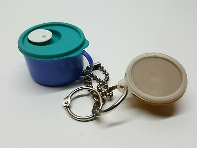 Lot of (2) Tupperware Keychain Collectible Wonderlier Bowl &