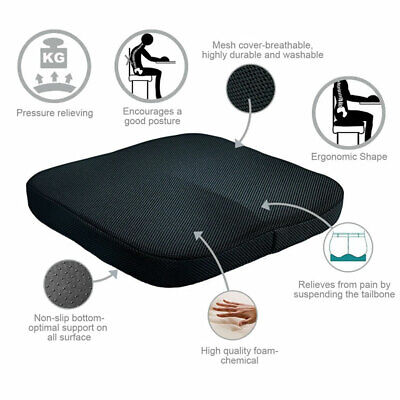 Memory Foam Cushion Coccyx Orthopedic Pain Chair Relief Office Car Seat