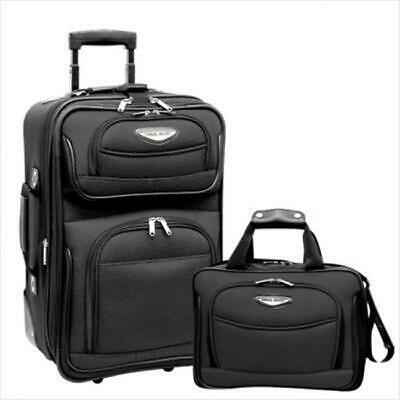 Amsterdam 2 Piece Carry-On Luggage Set in Gray