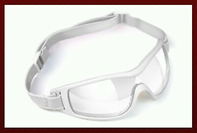 Kroops Tropos Arch Skydiving Goggle with Case White Clear