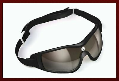 Kroops Tropos Arch Skydiving Goggle with Case Black Gray Mirror