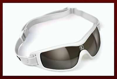 Kroops Form Turf Racing Goggle with Case White Gray Mirror Lens