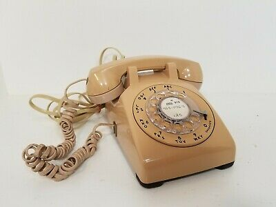 Vintage Rotary Dial Telephone WORKS Bell System Western Electric Desk TESTED