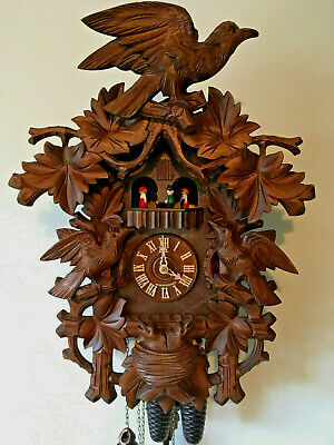 Black Forest 8 Day Musical Mechanical Cuckoo Clock, Large 54cm