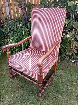 Stunning Antique Throne/High Back Chair, reupholstered - Exceptional Condition