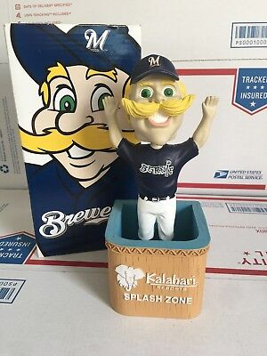2010 Bernie Brewer Milwaukee Brewers Bobblehead SGA Mascot Kalahari Splash