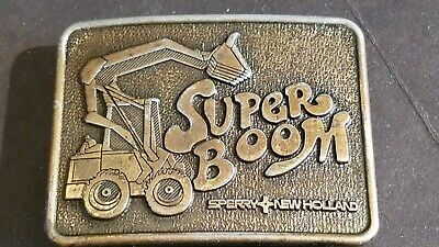 RARE VINTAGE SPERRY NEW HOLLAND AG-COMMAND COMPUTER SYSTEM BELT BUCKLE BRAND NEW