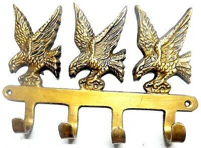 Bird Design Vintage Antique Style Handcrafted Brass Wall Hanger Wall Decor Hook