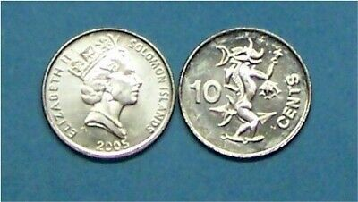 Oceania coin UNC. km27a Solomon Islands 10 Cents 2010