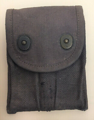 Very rare blue-dyed WWII U.S. Canvas .45 ammo pistol pouch - USN or British?