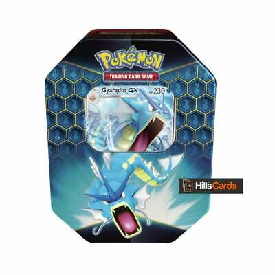 Pokemon Hidden Fates Gyarados GX Collectors Tin | Inc Booster Packs & Promo Card