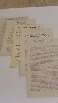 1930's Prohibition / women's Christian temperence leauge papers