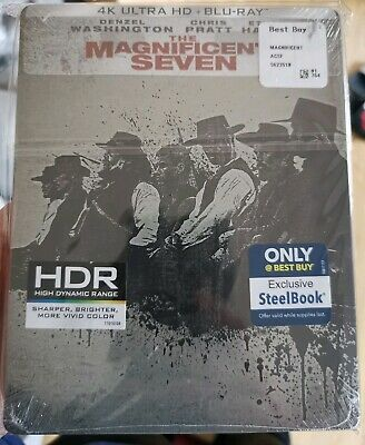 The Magnificent Seven - Best Buy US 4K UHD Blu-ray Steelbook New & Sealed