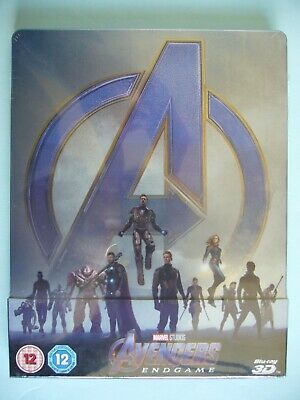Avengers: Endgame Limited Edition 3D/2D Blu-ray Steelbook New Sealed