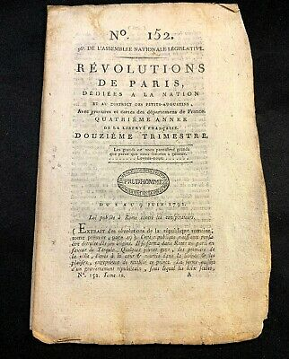 1792 NATIONAL ASSEMBLY LEGISLATION 16 pages