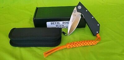 """Angry Anchor Knife and Tool AAKT """"DEVIL DOG"""" Black G10 with CTS-XHP made in USA"""