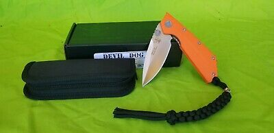 """Angry Anchor Knife and Tool AAKT """"DEVIL DOG"""" Autumn G10 with CTS-XHP made in USA"""