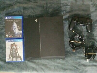 Sony PlayStation 4 PS4 500 GB Controller Power and HDMI Cord Game LotCUH-1001A