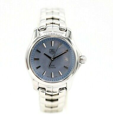 Tag Heuer Link Blue Mother Of Pearl Dial Stainless Steel Quartz Women's Watch