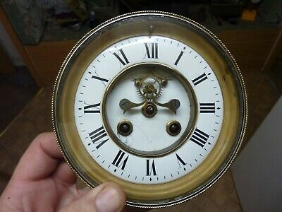Antique French Clock Open-Escapement Movement & Dial (Os) Free Post