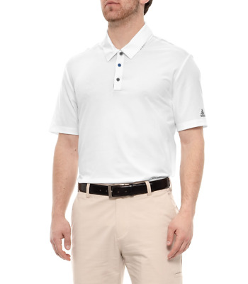 Adidas Golf Men's Ultimate 365 Solid Polo Shirt, New White Large $65 Ret.