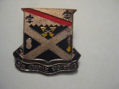 VINTAGE US MILITARY Insignia Pin 293rd Infantry Regiment DUI
