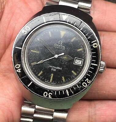 Omega Seamaster 200M Vintage Ref. 166.091 Stainless Steel Massive Diving Watch!!
