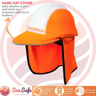 Budget Hard Hat Cover Sun Protection With Flap and Peak High Visibility Brim