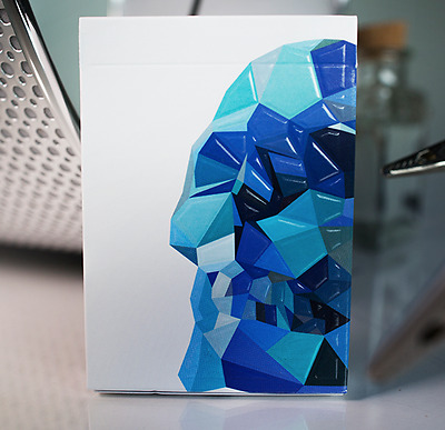 NEW Blue Memento Mori Playing Cards Deck by Murphy's Magic and Chris Ramsay