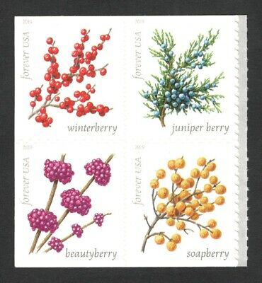 5415-18 (5418a) Winter Berries Block Of 4 Mint/nh Free Shipping