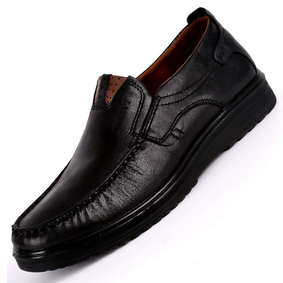 Fashion Mens Suede Leather Shoes Breathable Antiskid Loafers Moccasins Plus Size
