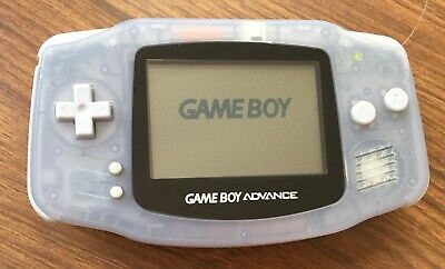 Nintendo Gameboy Advance Glacier (Blue - milky clear)  - Handheld Console - GBA