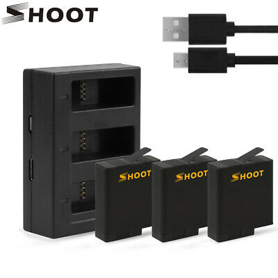SHOOT AHDBT-501 Battery for GoPro Hero 7 6 5 Black Action Camera + USB Charger