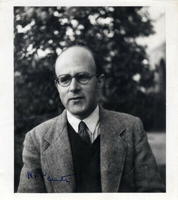 Max Ferdinand Perutz autograph Nobel Prize for Chemistry 1962, signed photo