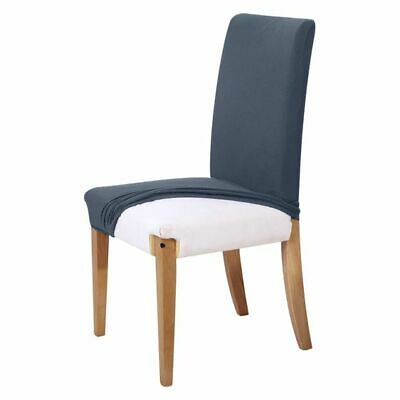 NEW SHERWOOD Stretch-to-Fit Dining Chair Cover, Jacquard in Grey