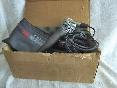 Vintage Shure SM58 Microphone dynamique 50 & 150 OHMS made in USA-