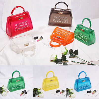 Variety Colours Trendy Clear Un Voyage Au Pays Handbag Across Body Bag Tote