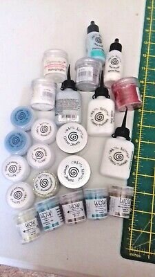 Mixed lot of glitters embossing powders cosmic twinkles x 25 items