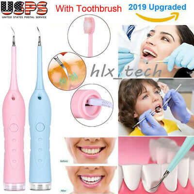 Electric Sonic Dental Calculus Remover Scaler Tooth Stains Tartar Cleaning Tools