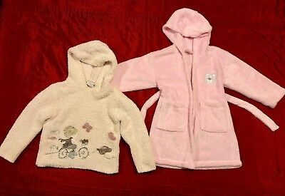 Girls Next Hooded Jumper 3-4 years & Pink Dressing Gown  Hoodie Fleece