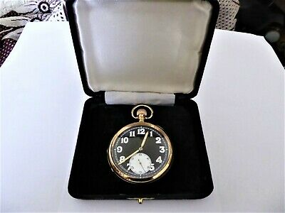 A rolex 9ct solid gold pocket watch.precision made watch.   ref no 115.