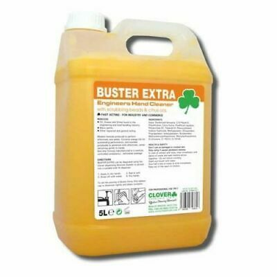 Clover Buster Extra 5Ltr, Engineers Hand Cleaner, Beadless Scrub, Free P&P. 415
