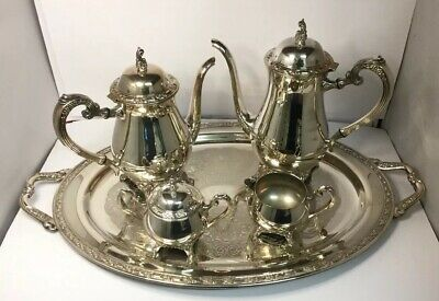 Vintage Silver Plated Coffee Set 5 Items Oneida Silversmiths USA Quality