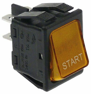 Momentary Rocker Switch Mounting Measurements 30X22Mm Orange 2No 250V 16A