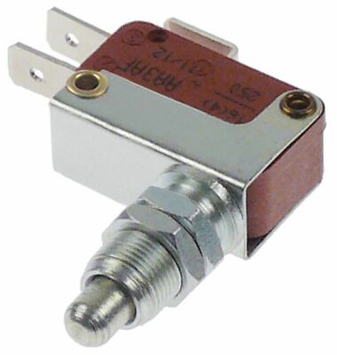 Microswitch With Plunger Thread M10X0.75 Thread L 14Mm 250V 16A 1Co
