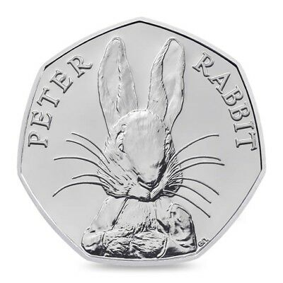 'PETER RABBIT' 50p Fifty Coin Circulated  Beatrix Potter Highly Collectable