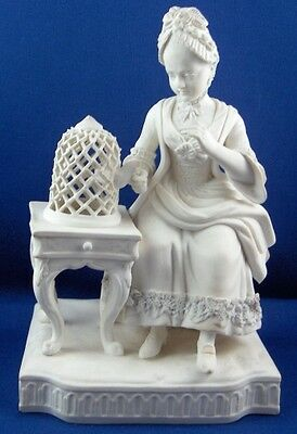 Antique 19thC Minton Porcelain Lady Bird Figurine Figure English England Mintons