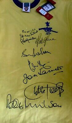 FRAMED ARSENAL 71 CUP FINAL SHIRT SIGNED BY 9 OF TEAM Amazing Value At  £149