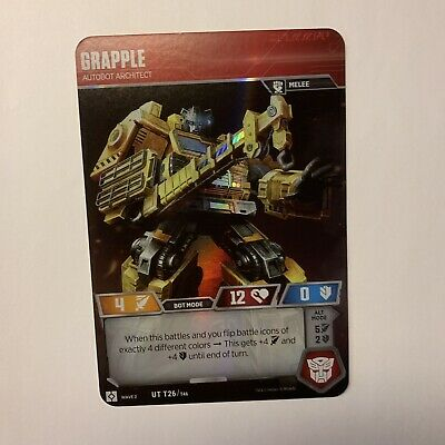 Grapple Ut T26 Transformers Tcg Wave 2 Card Rise Of The Combiners