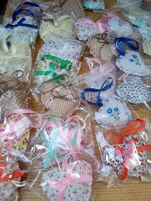 JOBLOT OF FABRIC HEARTS And KEYRINGS
